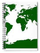 Map In Forest Green Spiral Notebook