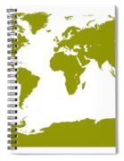 Map In Olive Green Spiral Notebook