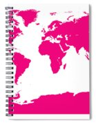 Map In Pink Spiral Notebook