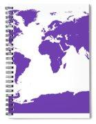 Map In Purple Spiral Notebook