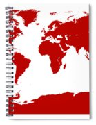 Map In Red Spiral Notebook