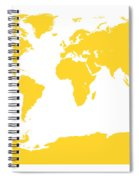 Map In Yellow Spiral Notebook