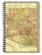 Map Of Arizona 1883 Spiral Notebook