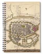 Map Of Copenhagen 1837 Spiral Notebook