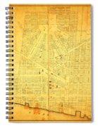 Map Of Detroit Michigan C 1835 Spiral Notebook