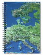 Map Of Europe Spiral Notebook