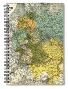 Map Of Germany 1861 Spiral Notebook