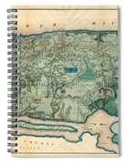 Map Of Manhattan Spiral Notebook