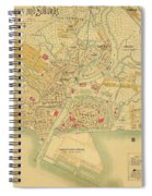 Map Of Manila 1899 Spiral Notebook