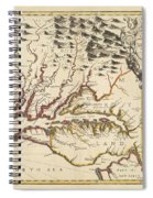 Map Of Maryland 1676 Spiral Notebook