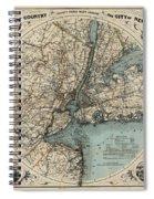 Map Of New York 1891 Spiral Notebook