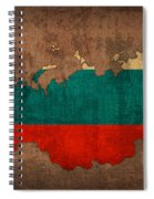 Map Of Russia With Flag Art On Distressed Worn Canvas Spiral Notebook