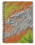 Map Of Southern Appalachia Spiral Notebook