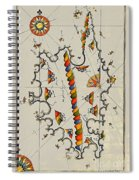 Map Of The Island Corsica Spiral Notebook