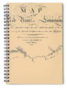 Map Of The Red River 1806 Spiral Notebook