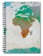 Map Of The World - Colors Of Earth And Water Spiral Notebook