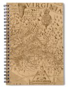 Map Of Virginia 1698 Spiral Notebook