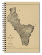 Map Of West Point 1883 Spiral Notebook