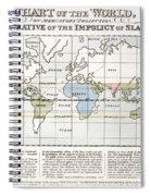 Map Sugar Trade Spiral Notebook