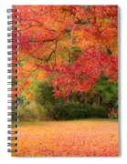 Maple In Red And Orange Spiral Notebook