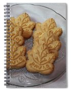 Maple Leaf Cookies And Milk - Food Art - Kitchen Spiral Notebook