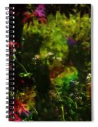 Maple Leaves And Daisys Spiral Notebook