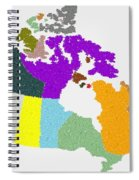 Maple Leaves Map Of Canada Spiral Notebook
