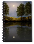 Maples In Moonlight Reflections Spiral Notebook