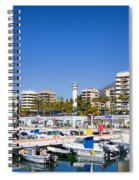 Marbella Marina In Spain Spiral Notebook