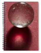 Marble Clear On Red 1 Spiral Notebook