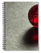 Marble Red Crackle 1 Spiral Notebook