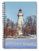 Marblehead Lighthouse In Winter Spiral Notebook