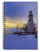 Marblehead Lighthouse Winter Sunrise Spiral Notebook