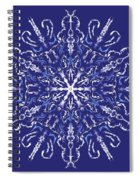 Marbleized Snowflake Kaleidoscope Spiral Notebook
