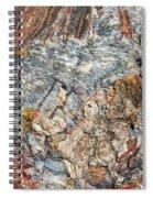 Marbleized Wood Spiral Notebook
