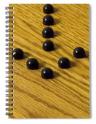 Marbles Arrow Blue 1 Spiral Notebook