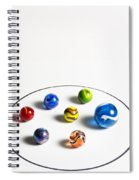 Marbles Circle 3 Spiral Notebook