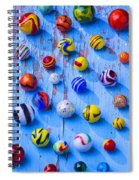 Marbles On Blue Board Spiral Notebook