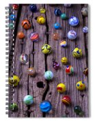 Marbles On Wood Spiral Notebook
