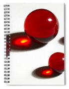 Marbles Red 2 Spiral Notebook