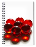 Marbles Red 3 B Spiral Notebook