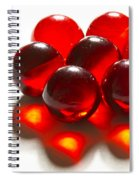 Marbles Red 3 C Spiral Notebook