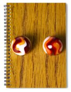 Marbles Red Orange Swirl 1 Spiral Notebook