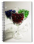 Marbles Wine Glasses 2 Spiral Notebook