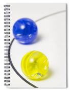 Marbles Yellow Blue Curve 1 Spiral Notebook