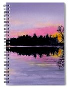March Sunset In Maine Spiral Notebook