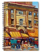 Marche Bonsecours Old Montreal Spiral Notebook