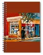 Marche Depanneur Storefront Paintings Authentic Montreal Art Prints Originals Commissions C Spandau Spiral Notebook