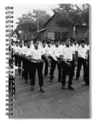 Marchers Number 1 100th Anniversary Parade Nogales Arizona 1980 Black And White  Spiral Notebook
