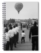 Marchers Number 2 100th Anniversary Parade Nogales Arizona 1980 Black And White  Spiral Notebook